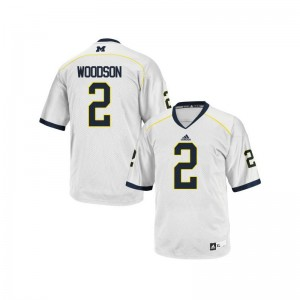 Wolverines Charles Woodson Jersey Game White Ladies Jersey