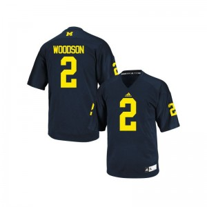 Michigan Wolverines College Jersey Charles Woodson Game Navy Blue Youth(Kids)