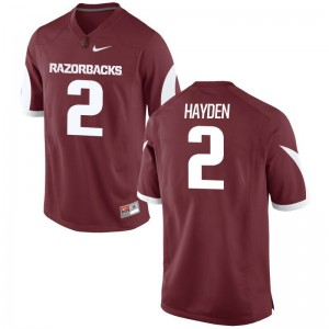 Chase Hayden Jersey Arkansas Razorbacks Game Mens - Cardinal