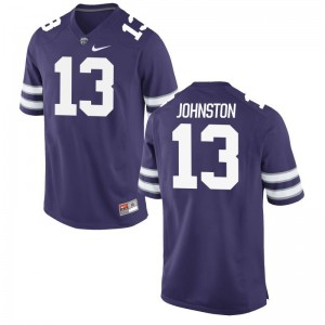 Chase Johnston Kansas State Jerseys S-3XL Game Mens Purple