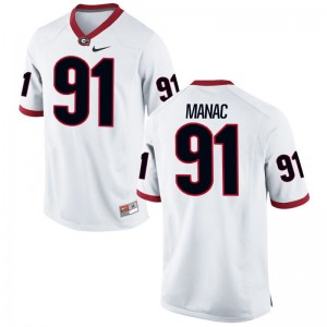 UGA Bulldogs Chauncey Manac Game Women Jersey S-2XL - White