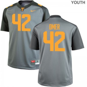 Tennessee Chip Omer High School Jersey Youth(Kids) Gray Game