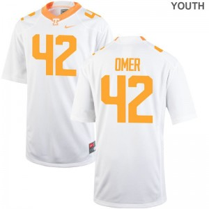 Tennessee Volunteers Chip Omer Jerseys S-XL White Game Youth