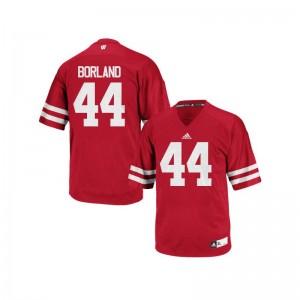 UW Chris Borland For Men Authentic Red Alumni Jerseys