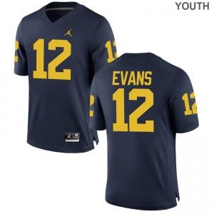 Chris Evans Michigan Wolverines For Kids Limited Jordan Navy Alumni Jerseys
