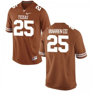 Chris Warren III Jerseys S-3XL For Men University of Texas Limited - Orange