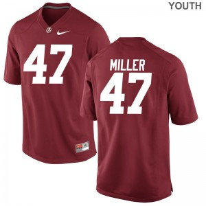 Bama Football Jersey Christian Miller Game Red Youth