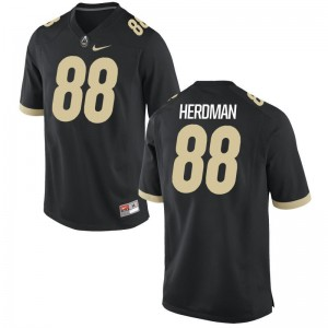 Cole Herdman Purdue University Jerseys Game Black For Men Jerseys