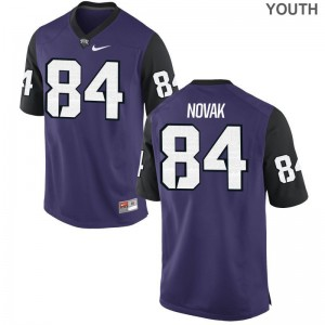 Purple Black Cole Novak Jerseys Horned Frogs Youth Limited