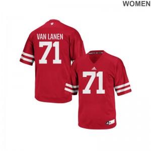 Cole Van Lanen Jerseys University of Wisconsin Red Replica Women High School Jerseys