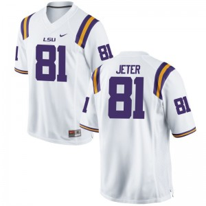 Colin Jeter Womens Football Jersey White Game Louisiana State Tigers