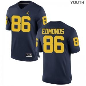 Conner Edmonds Michigan Youth Jersey Jordan Navy Limited Jersey