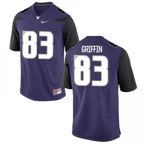 Men Connor Griffin Jersey Purple Game Washington Jersey