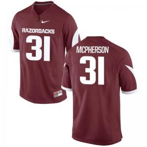 Arkansas Connor McPherson Game Mens Cardinal Jerseys