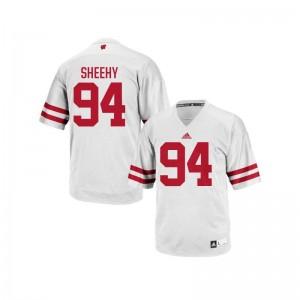 S-3XL University of Wisconsin Conor Sheehy Jerseys Men Replica White Jerseys