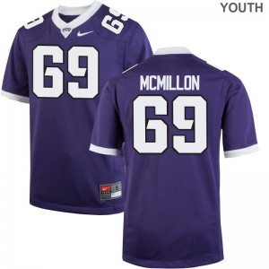 TCU Horned Frogs Coy McMillon Game For Kids Jerseys S-XL - Purple