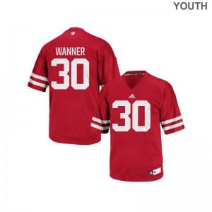 Kids Authentic UW Jerseys Coy Wanner Red Jerseys