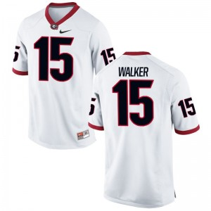 D'Andre Walker Georgia NCAA Jerseys White Game Men