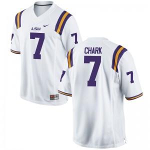 D.J. Chark Mens Jerseys S-3XL White Limited Louisiana State Tigers