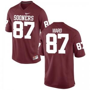 D.J. Ward OU Jerseys Mens Limited Crimson