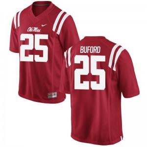 University of Mississippi D.K. Buford Alumni Jersey Mens Red Game