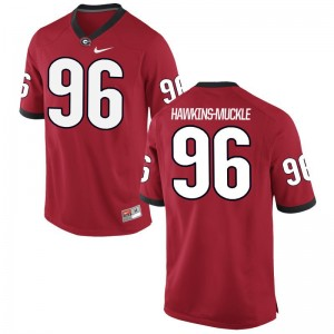 DaQuan Hawkins-Muckle UGA Bulldogs Jersey S-3XL For Men Red Game