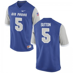 Air Force Falcons Dailen Sutton Game Mens Jersey - Royal