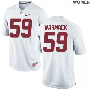 Limited Ladies White Bama Football Jersey of Dallas Warmack