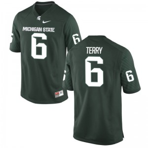 MSU Game Damion Terry For Men Jerseys - Green