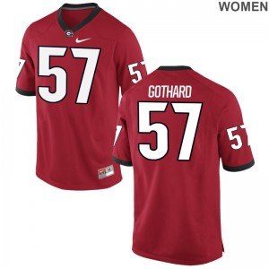 Women Limited Georgia Bulldogs Jerseys of Daniel Gothard - Red