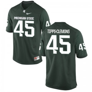 MSU Darien Tipps-Clemons Jersey NCAA For Men Game Green Jersey