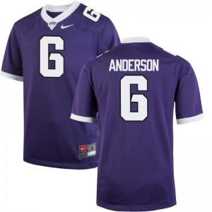 Darius Anderson Men Football Jerseys TCU Game - Purple