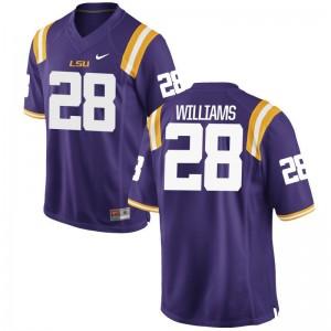 S-3XL LSU Darrel Williams Jerseys NCAA For Men Game Purple Jerseys