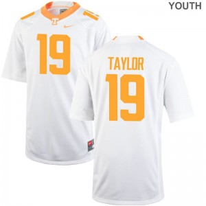 Tennessee Vols Darrell Taylor Jersey Limited For Kids White