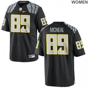 Ducks Darrian McNeal Player Jersey Game Black For Women Jersey