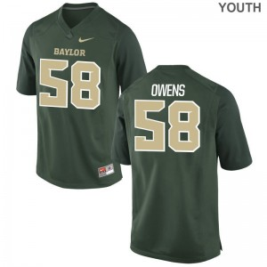 S-XL University of Miami Darrion Owens Jersey Football Youth(Kids) Game Green Jersey