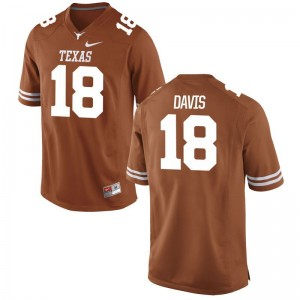 University of Texas Jerseys Davante Davis For Men Game Orange