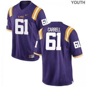 David-Michael Carrell LSU Tigers Jersey Limited Kids Purple Jersey