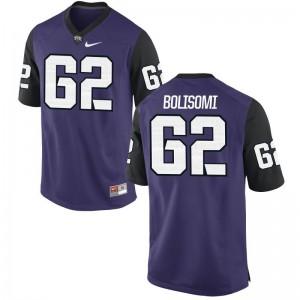 Game Purple Black David Bolisomi Player Jerseys Mens Texas Christian