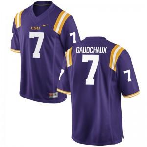 LSU Tigers Purple Game Mens Davon Gaudchaux Jerseys