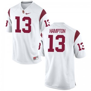USC De'Quan Hampton Jerseys S-2XL Game Women - White