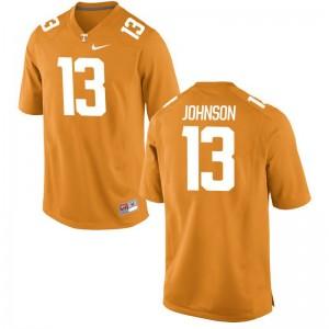 Deandre Johnson UT College Jersey Orange Game Men Jersey