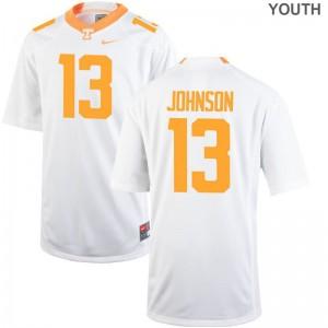 Tennessee Vols Game Deandre Johnson Kids Jersey - White