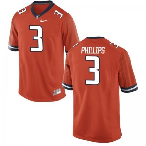 Game Orange Del'Shawn Phillips Jerseys S-3XL Mens Illinois Fighting Illini