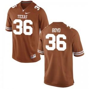 University of Texas Demarco Boyd Jerseys S-3XL Orange For Men Game