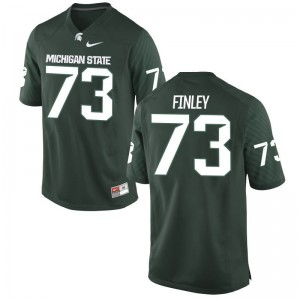 Dennis Finley Michigan State Player Jersey Green Men Game