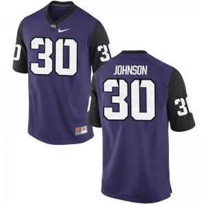 Denzel Johnson Horned Frogs Jersey S-2XL Limited Women - Purple Black
