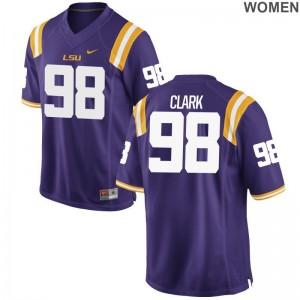 Deondre Clark Limited Jerseys Womens LSU Tigers Purple Jerseys