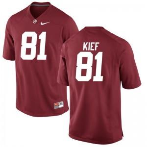 Alabama Derek Kief Men Game Red NCAA Jersey
