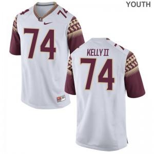 S-XL Seminoles Derrick Kelly II Jerseys Alumni For Kids Game White Jerseys